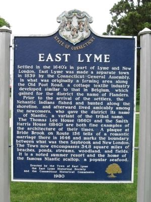 East Lyme Marker image. Click for full size.