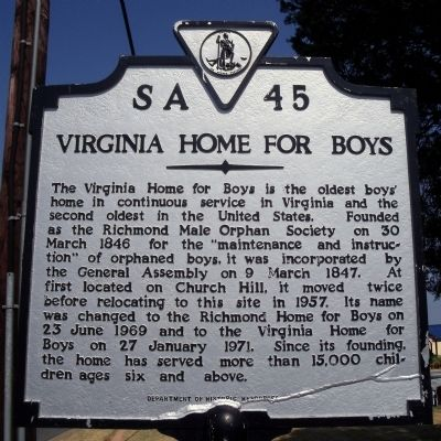 Virginia Home for Boys Marker image. Click for full size.
