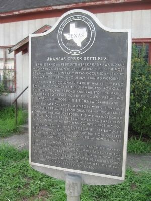Aransas Creek Settlers Marker image. Click for full size.