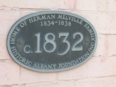 Herman Melville House Plaque image. Click for full size.