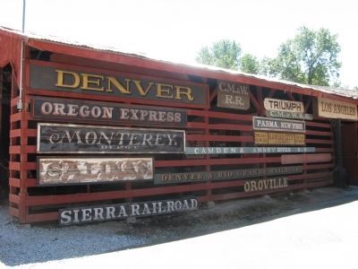 Vintage Railroad Signs on Display image. Click for full size.
