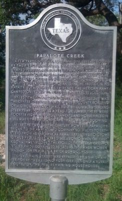 Papalote Creek Marker image. Click for full size.