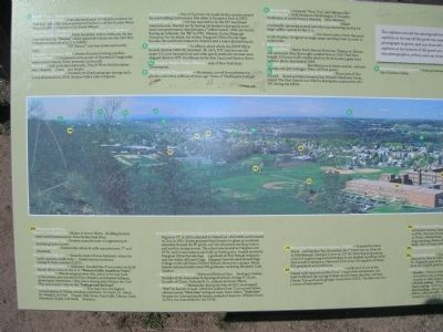 A Panoramic View of American History Marker - LEFT image. Click for full size.