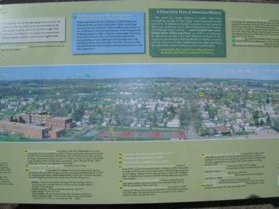 A Panoramic View of American History Marker - Center image. Click for full size.