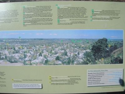 A Panoramic View of American History Marker - Right image. Click for full size.