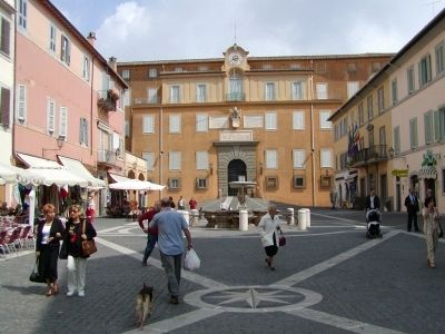View of the Piazza della Libertà in Castel Gandolfo, Italy image. Click for full size.