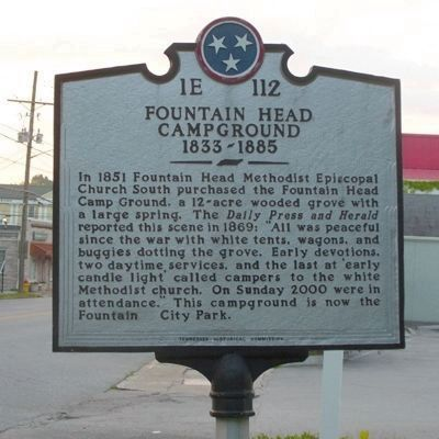 Fountain Head Campground Marker image. Click for full size.