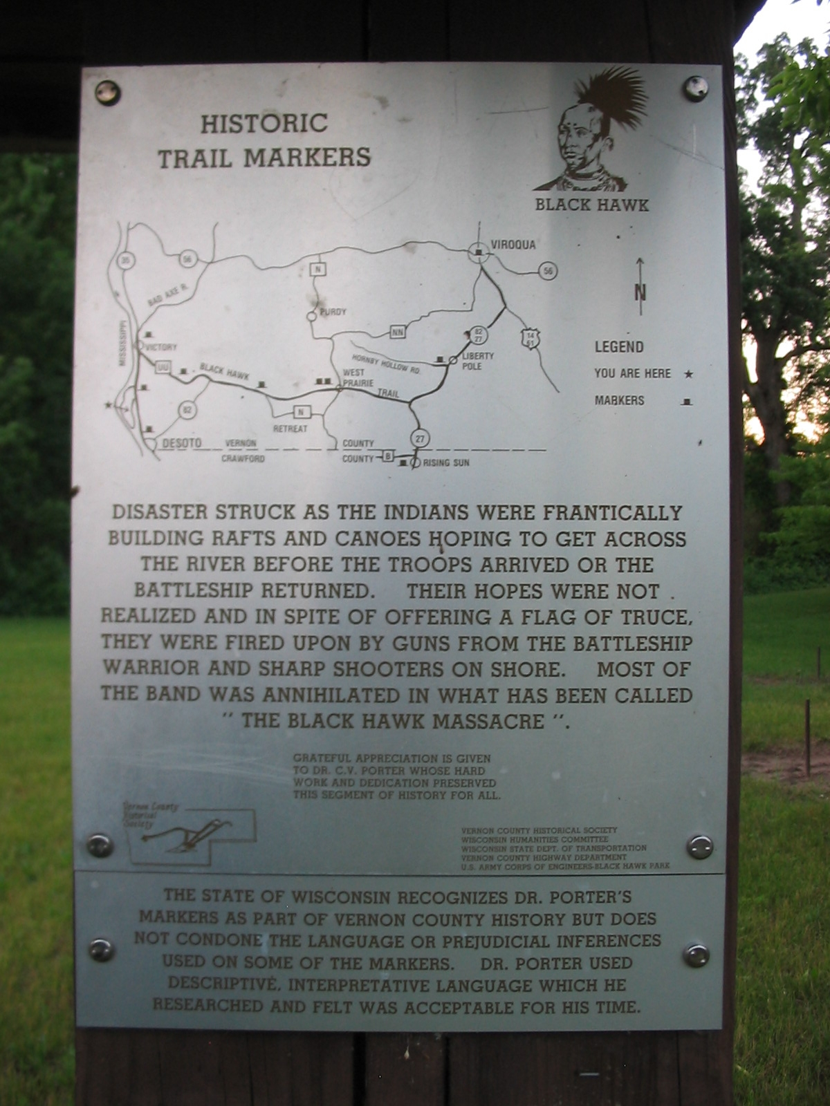 Historic Trail Markers Sign
