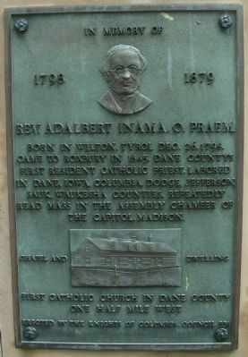 Plaque in Memory of Father Adalbert Inama near Marker image. Click for full size.