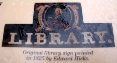 Newtown Library Co. Sign on Marker image. Click for full size.