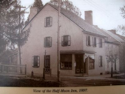 Half-Moon Inn Photo on Marker image. Click for full size.