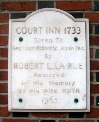 Court Inn 1733 [Marker] image. Click for full size.