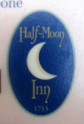 Half-Moon Inn Sign on Marker image. Click for full size.