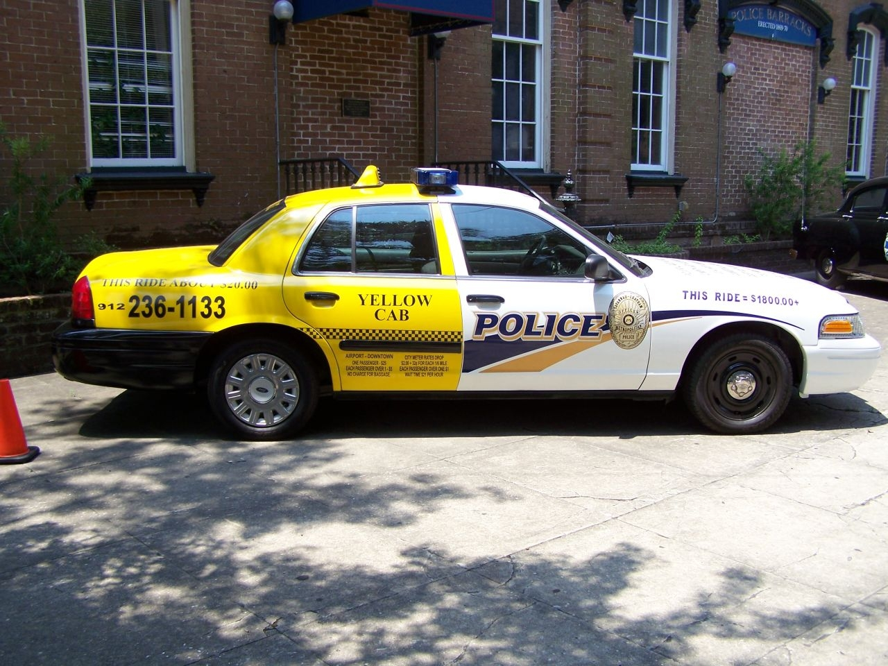 Police Car, part-time cab