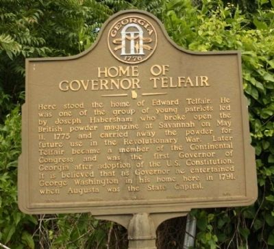Home of Governor Telfair Marker image. Click for full size.