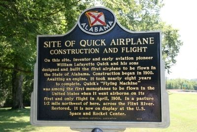 Site of Quick Airplane Marker (Side A) image. Click for full size.