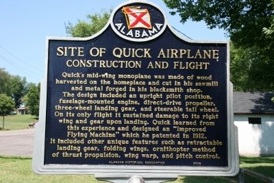 Site of Quick Airplane Marker (Side B) image. Click for full size.