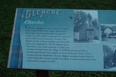 Glencoe - Churches Marker image. Click for full size.