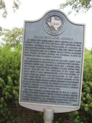 Early Odem Area Schools Marker image. Click for full size.
