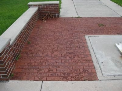 Memorial bricks from Thomas Jefferson High School Alumni image. Click for full size.