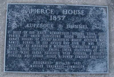 Pierce House Marker image. Click for full size.