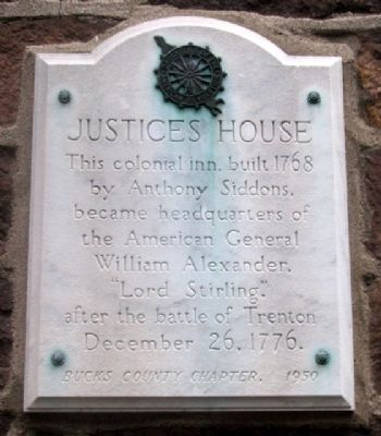 Justices House Marker image. Click for full size.