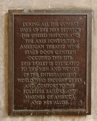 Stage Door Canteen Marker image. Click for full size.