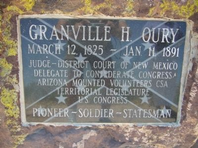 Granville H. Oury Marker image. Click for full size.