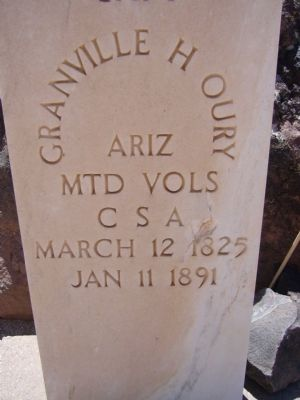 Granville H. Oury Grave Marker image. Click for full size.