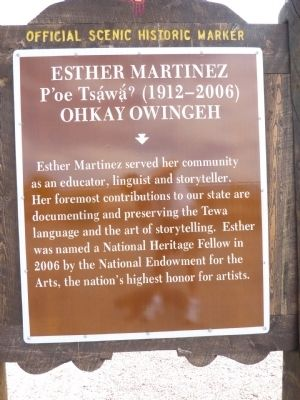Esther Martinez Marker image. Click for full size.