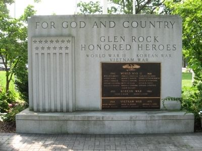Glen Rock Honored Heroes image. Click for full size.