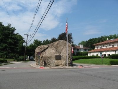 Glen Rock Marker and the Glen Rock image. Click for full size.