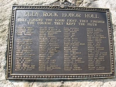 Glen Rock Honor Roll Marker image. Click for full size.
