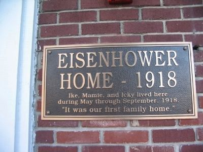 Plaque at Entrance of Eisenhower House image. Click for full size.