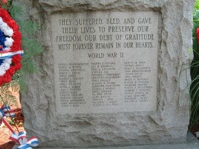 Hawthorne World War II Monument image. Click for full size.