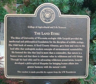 The Land Ethic Marker image. Click for full size.