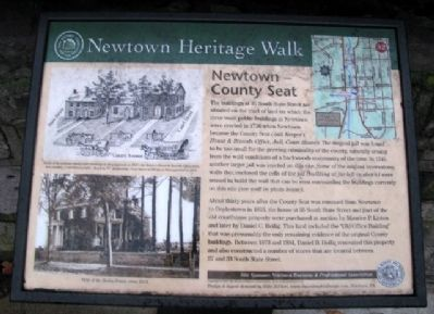 Newtown - County Seat Marker image. Click for full size.