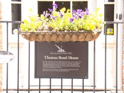 Thomas Bond House Marker image. Click for full size.