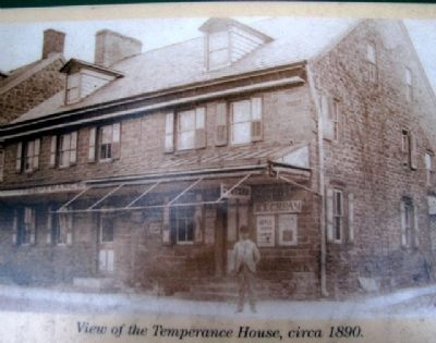 Photo on Temperance House Marker image. Click for full size.