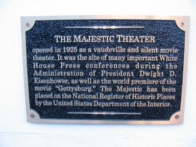 The Majestic Theater Marker image. Click for full size.