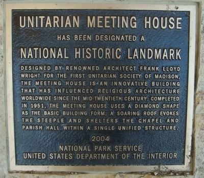 Unitarian Meeting House Marker image. Click for full size.