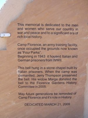 Camp Florence Marker image. Click for full size.