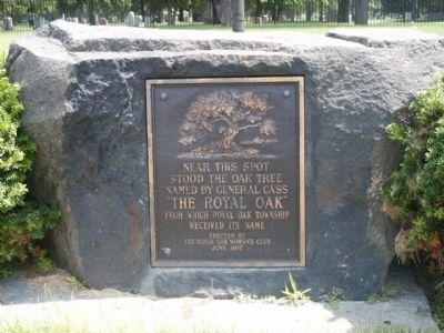 The Royal Oak Marker image. Click for full size.