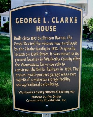 George L. Clarke House Marker image. Click for full size.