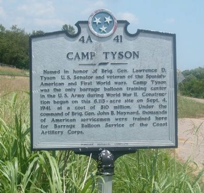 Camp Tyson Marker image. Click for full size.