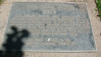 Van Slyke House Marker image. Click for full size.