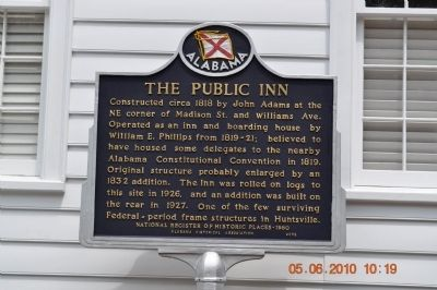 The Public Inn Marker image. Click for full size.