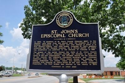 St. John's Episcopal Church Marker Side A image. Click for full size.