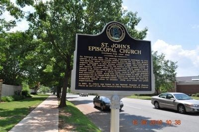 St. John's Episcopal Church Marker Side B image. Click for full size.