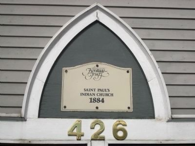 St. Paul's Church - British Columbia Heritage Trust Marker image. Click for full size.
